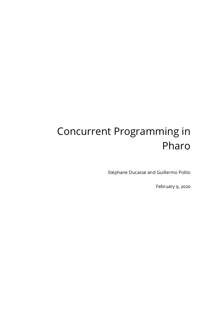 Concurrent Programming in Pharo