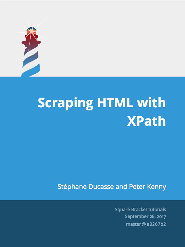 XPath HTML Scraping booklet