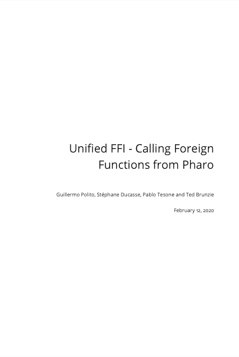 Unified FFI - Calling Foreign Functions from Pharo